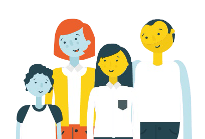 Post-adoption family cartoon