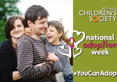 National Adoption Week - Adoptive family hugging