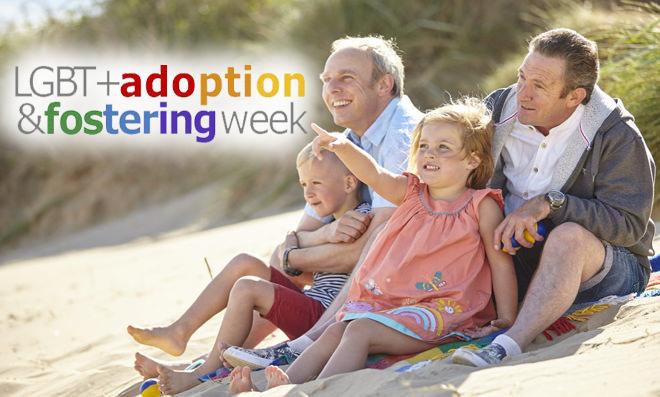 LGBT Adoption & Fostering Week - Adoptive LGBT family on beach