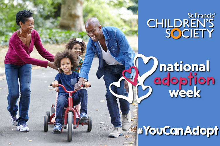 National Adoption Week - BME adoptive family playing with bike
